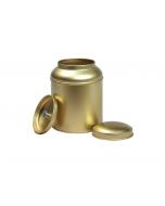 Bote metálico con tapa cúpula dorado  - XL