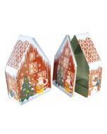 Caja metálica casita nevada navidad