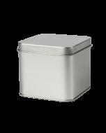 Caja metálica grande con tapa a presión