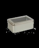 Caja metálica para galletas con ventana