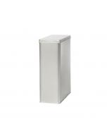 Caja metálica rectangular de 1.25kg con tapa bisagra