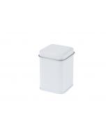 Cajita metálica cuadrada de 25 gr blanca