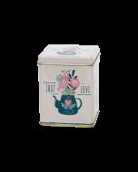 Envase metálica decorada Té 100 gr - Flores