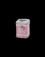 Envase metálica decorada Té 50 gr - Amor