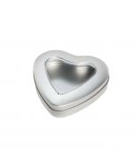 Lata en forma de corazón con ventana